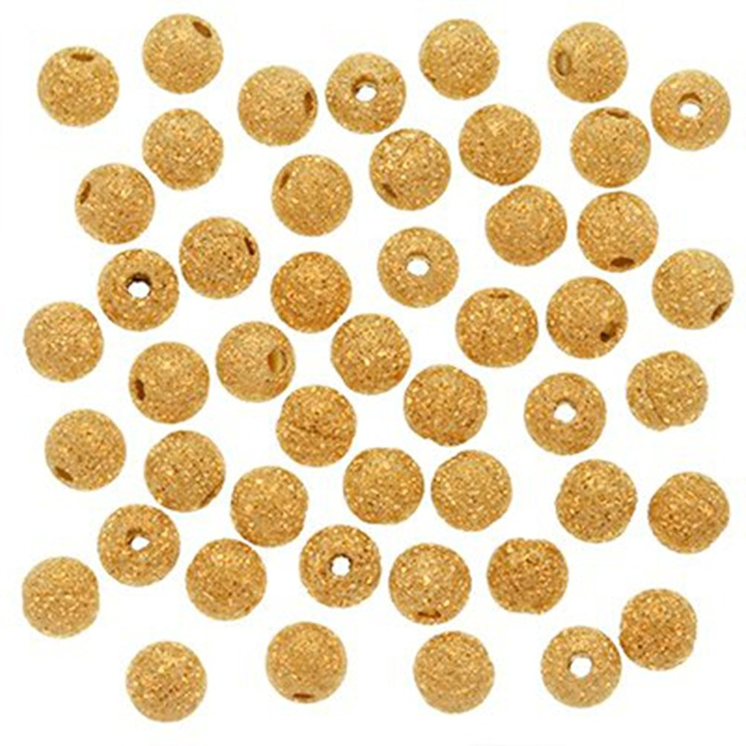 Wadoy 22K Gold Plated Stardust Sparkle Round Beads 4mm (100pcs) DUMAN STARDUST60