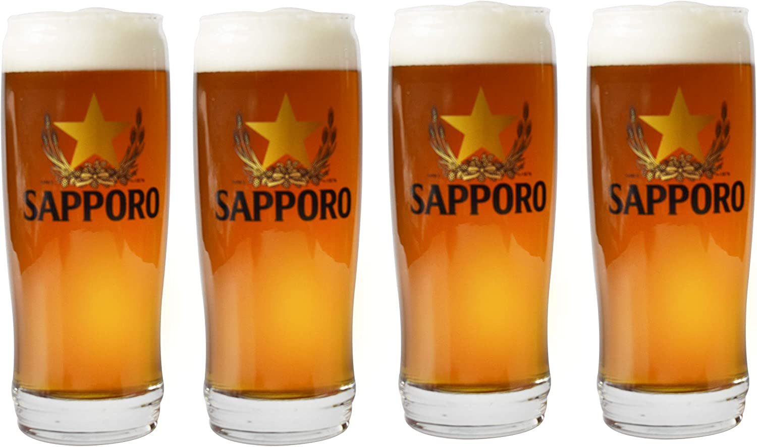Sapporo Beer Glass 16oz set of 4