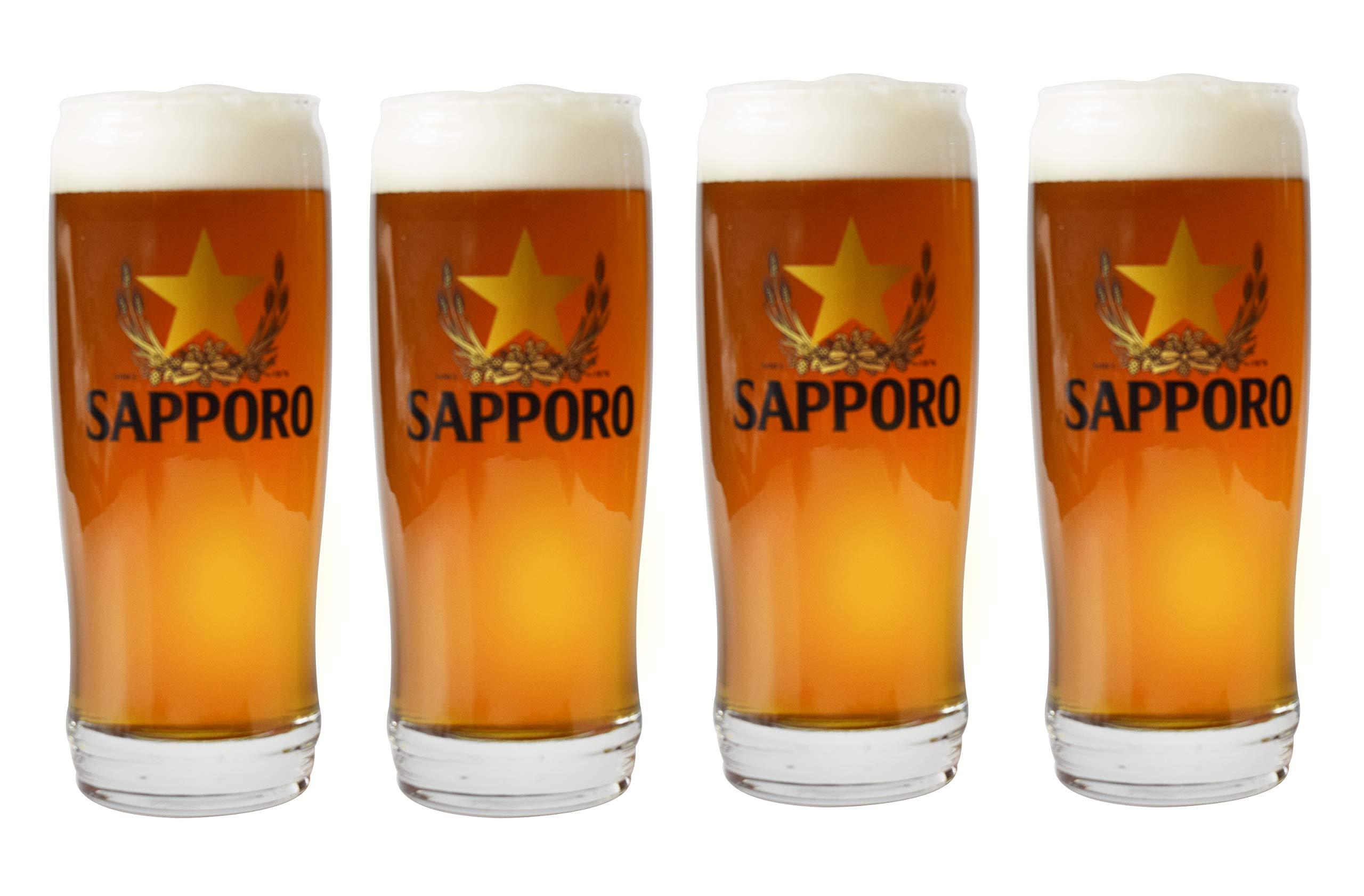Sapporo Tumbler Beer Glass set of 4