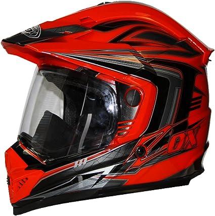 Amazon.es: ZOX Rush SFX aventura Mens calle casco de moto, color rojo