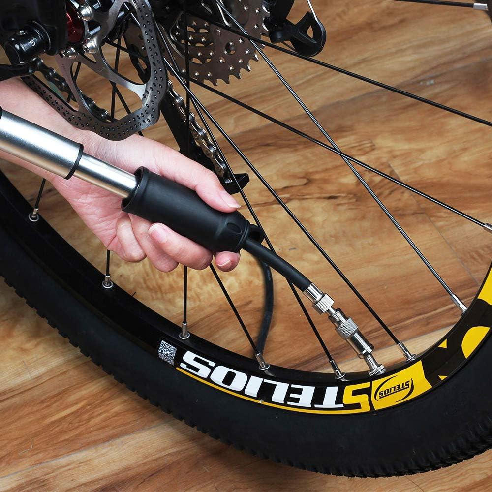 LIDAUTO Bomba de neumático de Bicicleta Aguja de Aire de inflado ...