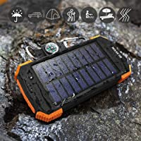Deals on Blavor 10,000mAh Solar Power Bank Qi Portable Charger