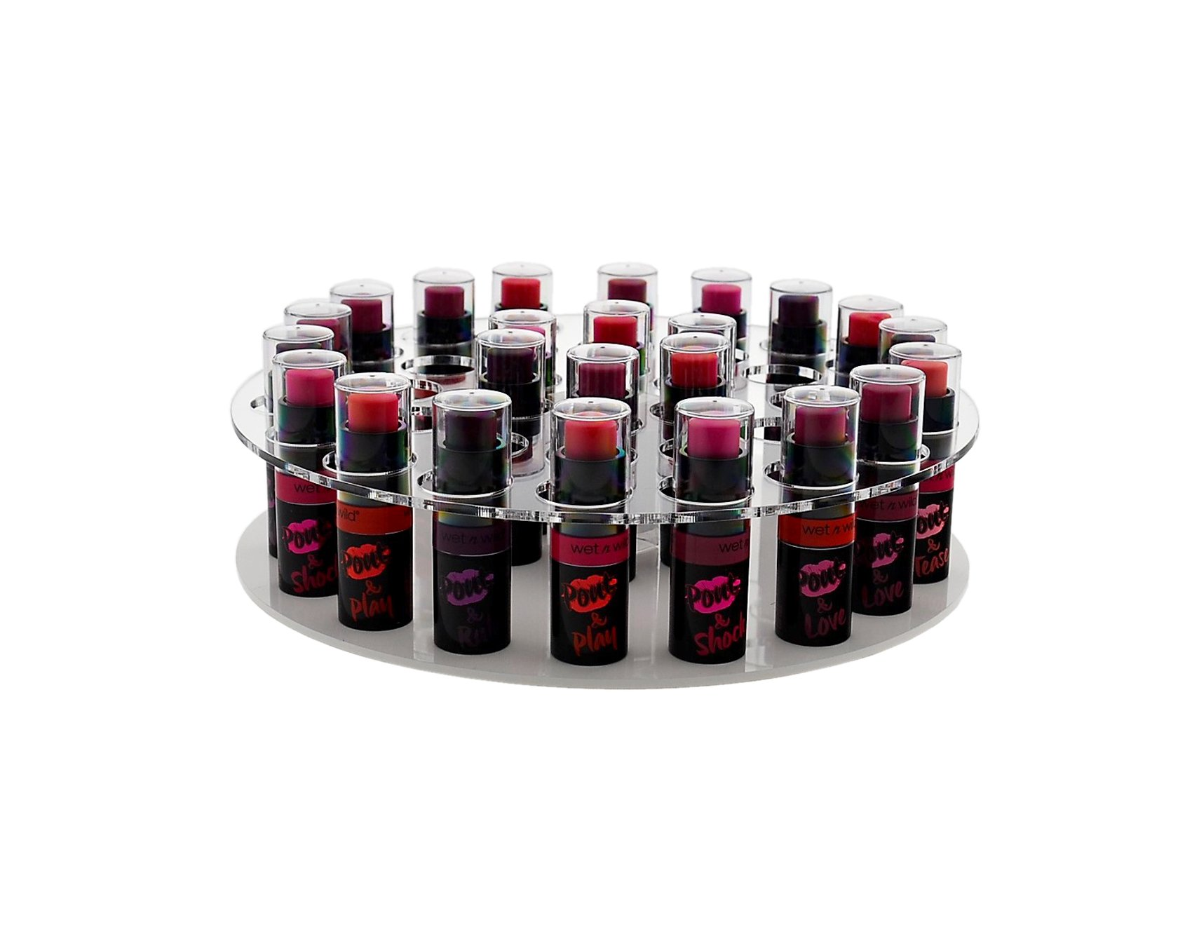 Marketing Holders Rotating Lipstick & Essential Oil Organizer Easy Spin Durable Display Stand Home Retail or Expos and Shows (6, Clear) by Marketing Holders (Image #3)