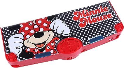 Estuche rojo multifuncional Minnie DISNEY: Amazon.es: Oficina y papelería