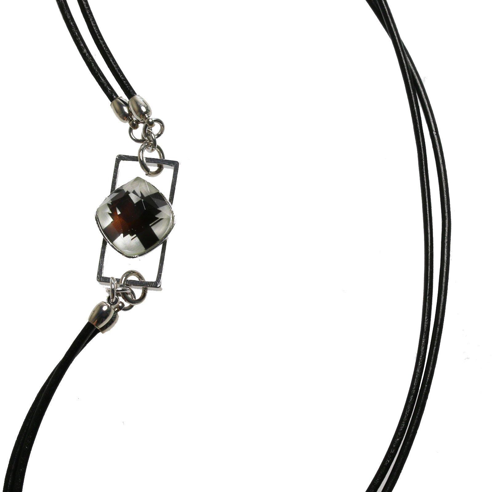 Tamarusan Eyeglass Holder Glasses Chain Leather Original Resin by TAMARUSAN