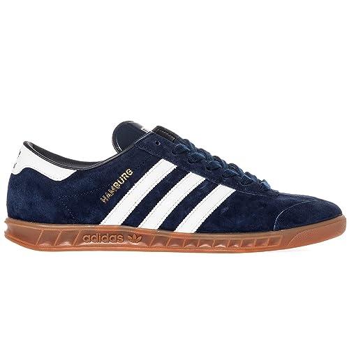 Adidas Hamburg Classic Men's Shoes NavyWhiteGold Metal