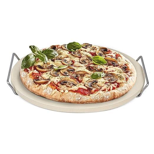 Piedra para Pizza / Pan Ø33 cm con Estructura de Acero Inoxidable ...