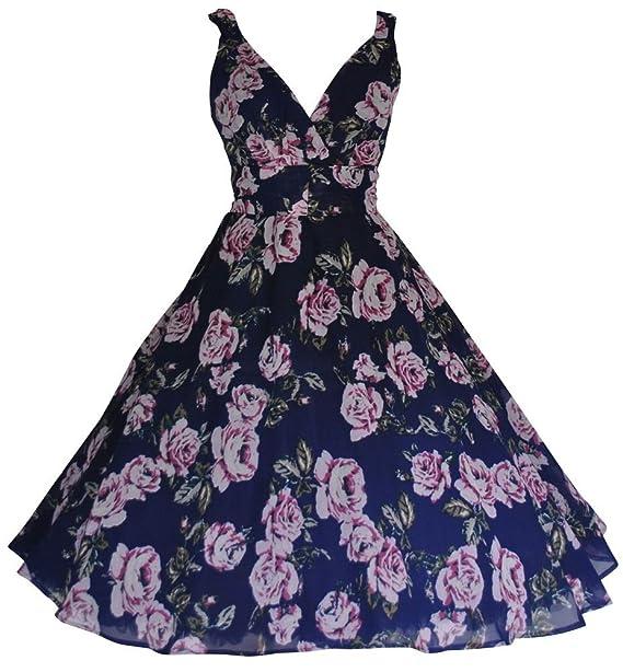 Love Camden Para mujer 59436 cm s azul marino diseño de flores de estilo Vintage de