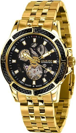 Louis Xvi de Hombre Reloj de Pulsera Majesté L Acier L OR Noir Automatique