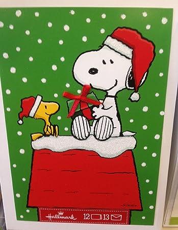 Amazon.com : Hallmark PX2312 Snoopy and Woodstock Gift Giving ...