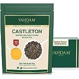 VAHDAM, Castleton Premium Darjeeling First Flush Black Tea 2021 | 3.53Oz/100g, Exclusive Hand Picked Black Loose-Leaf Tea | F