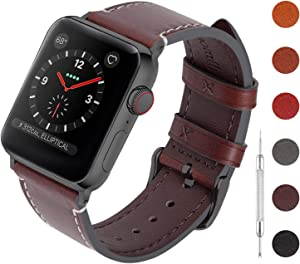 Fullmosa Watch Bands Leather Compatible with Apple Watch Band 40mm 44mm for Series 4 Unique Design Vintage Quick Release Men Women Straps