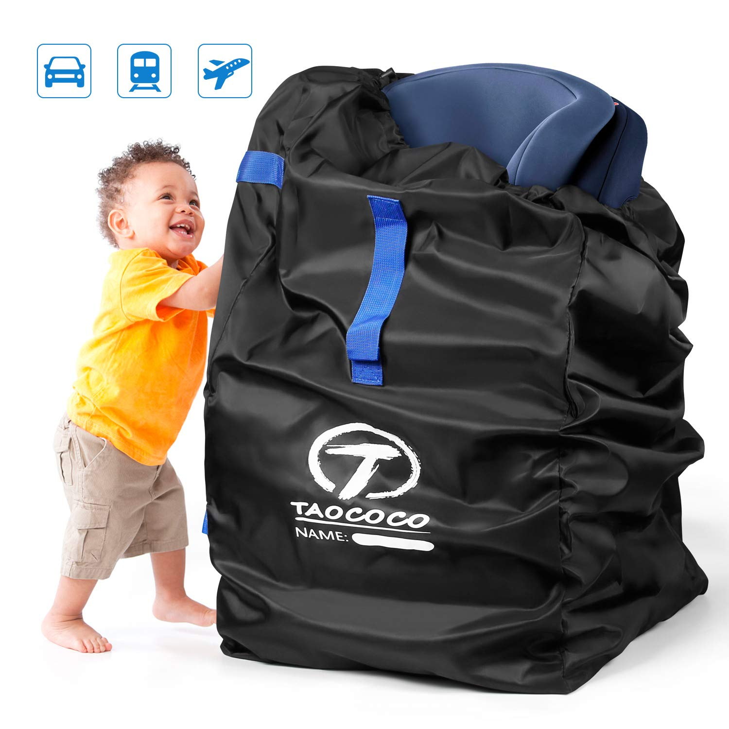 TAOCOCO Car Seat Travel Bag, Gate Check Bag for Family Travel with Baby, Airline Easy Carry Carseat Bag Stroller Car Seat Travel Bag by TAOCOCO
