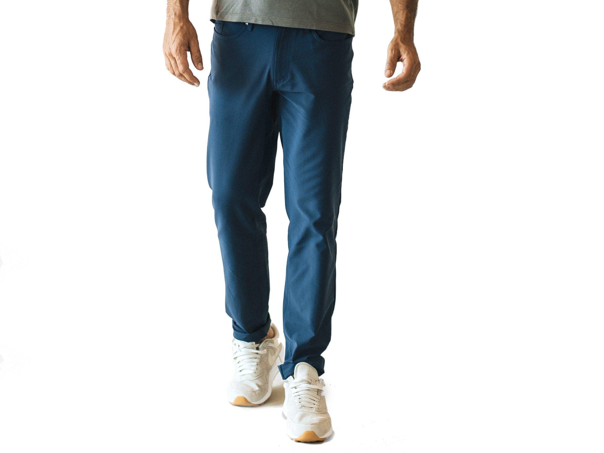 OLIVERS Everyday Performance Passage Pant, Indigo Blue, 34 inch Waist