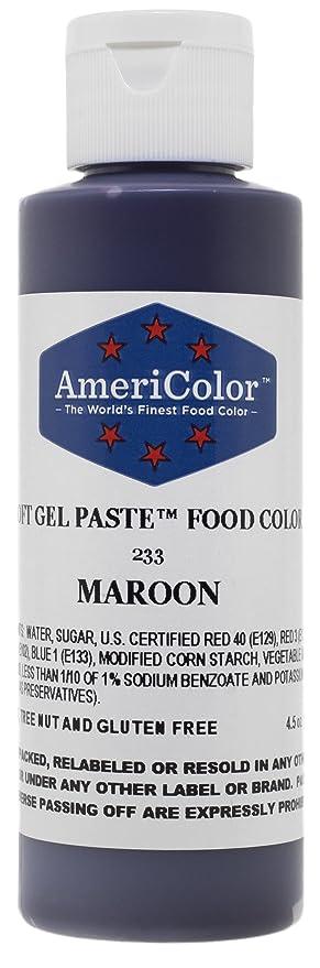 Amazon.com: AmeriColor Food Coloring, Maroon Soft Gel Paste, 4.5 ...