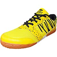 Port Unisex Yellow PU Badminton Shoes