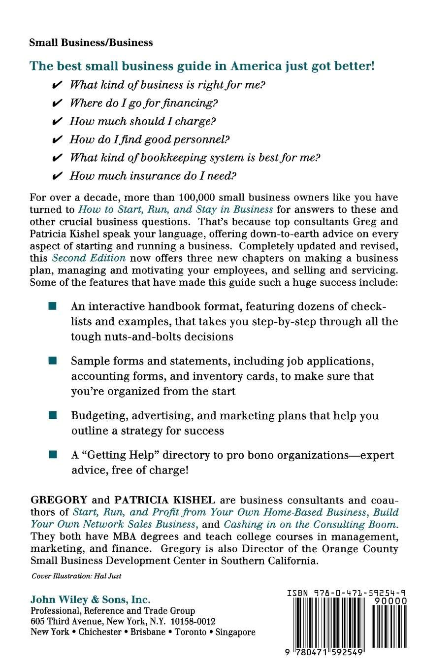 How to Start, Run, and Stay in Business (Small Business Series