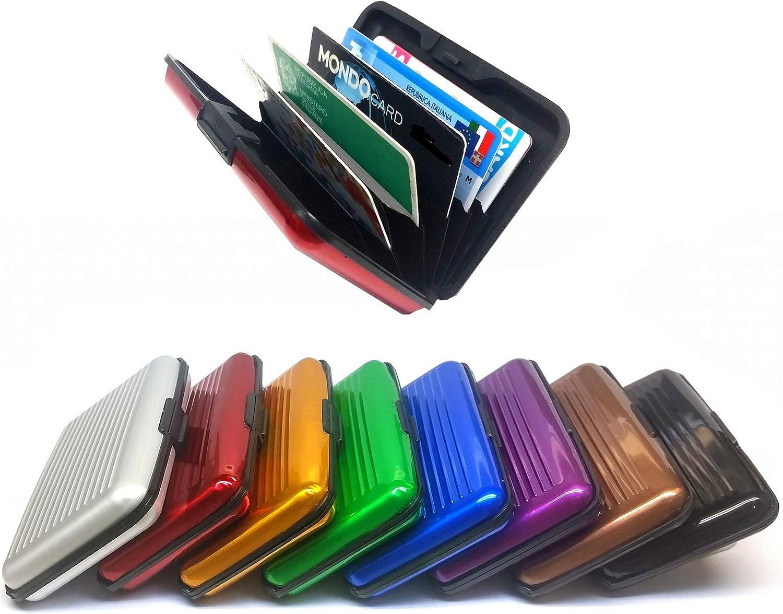 Impermeabile 10 Colori Assortiti Argento Demarkt Porta-Tessere in Alluminio