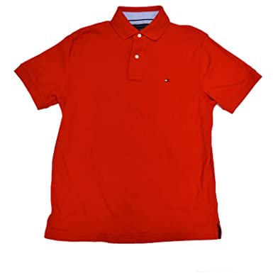 8ceeae6ba23 Image Unavailable. Image not available for. Color  Tommy Hilfiger Mens  Classic Fit Interlock Polo Shirt ...