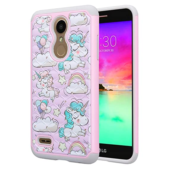 outlet store c28b0 848a2 LG K30 Case (X410), LG Premier Pro LTE Case, LG K10 2018 Case (MS425) with  [HD Screen Protector] Diamond Bling Hybrid Protective Glitter LG K30 Phone  ...