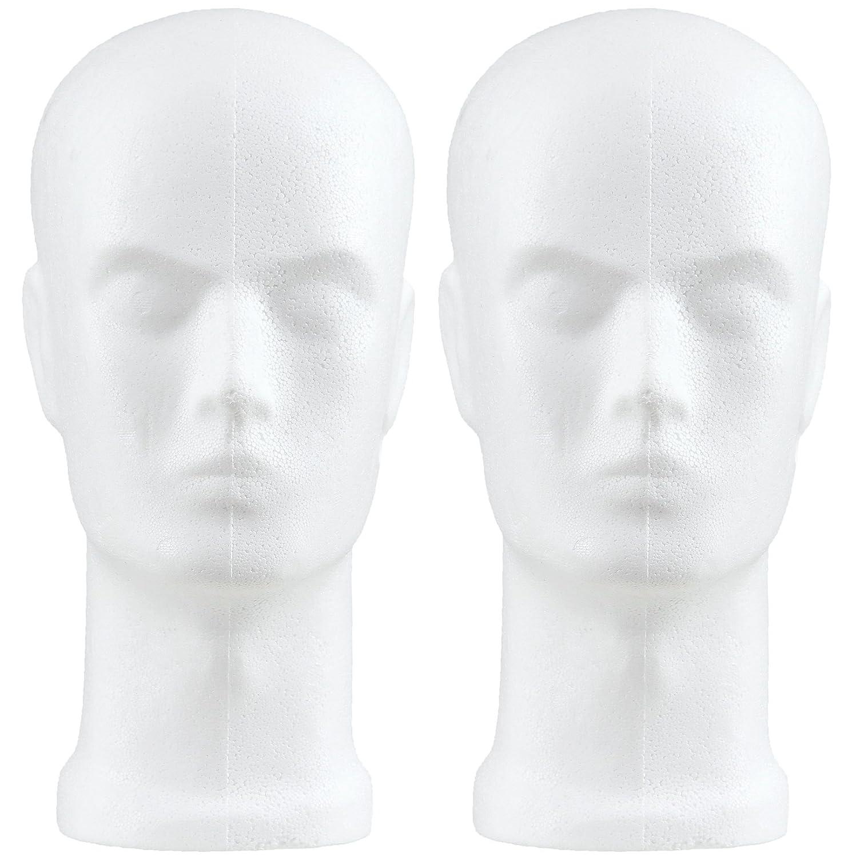 Styroporkopf Herr im Doppelpack Sebutec H010-2