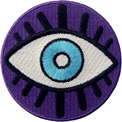 Eyeball Iron On Patch  Round patch  Eye Patches  Iron On  Psychedelic Patch  Gift for Him  Gift ideas  Embroidered Patch