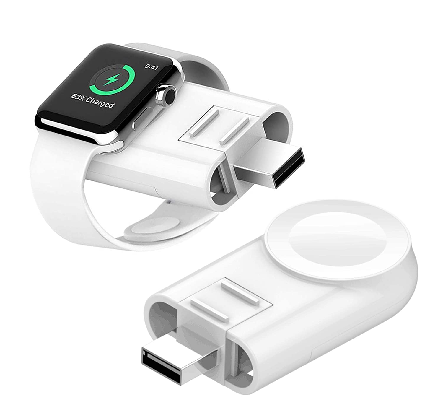 Wireless Watch Charger for Apple Watch,Portable USB Magnetic iWatch Charger Compatible with Apple Watch Series 4 3 2 1