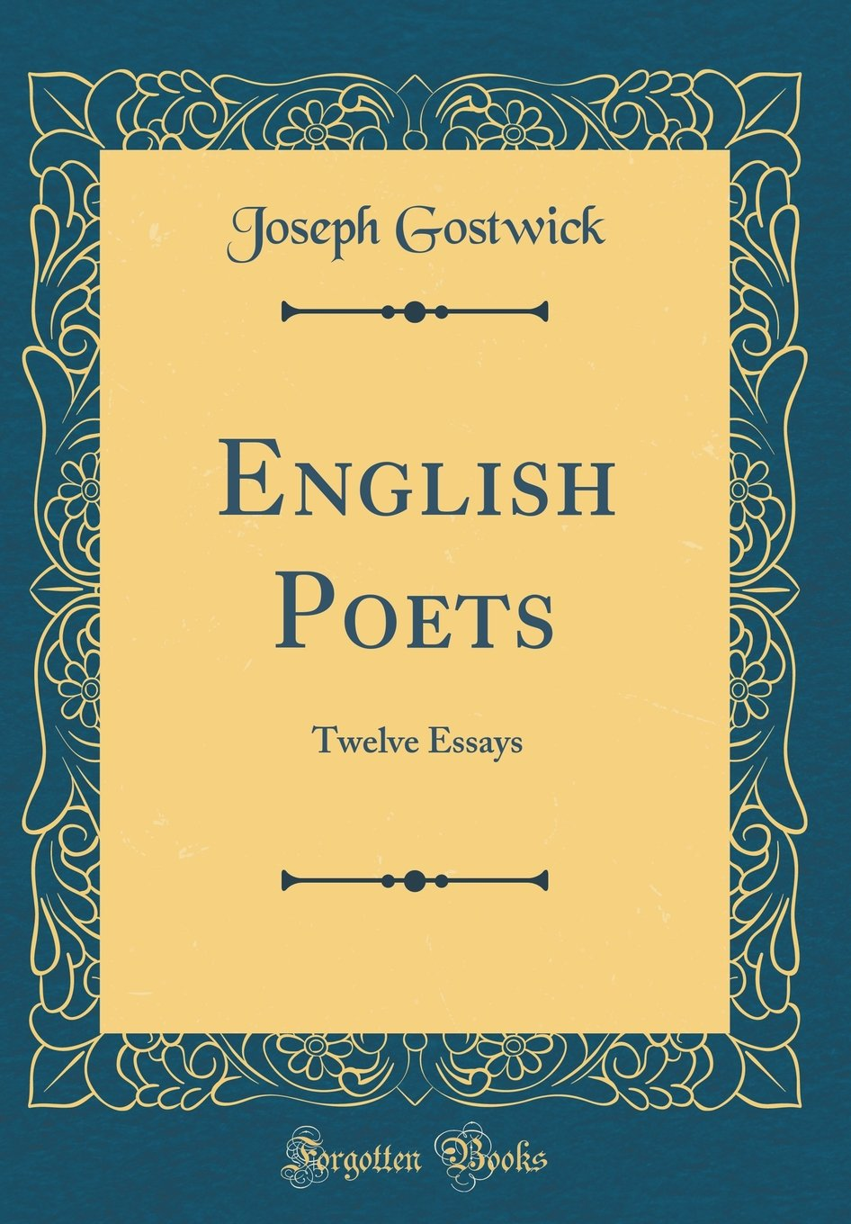 Download English Poets: Twelve Essays (Classic Reprint) pdf epub