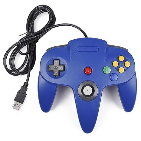 Efanr Wired USB PC controlador de juego Joystick para Nintendo 64 N64 Sistema Gamepad Joypad GameCube