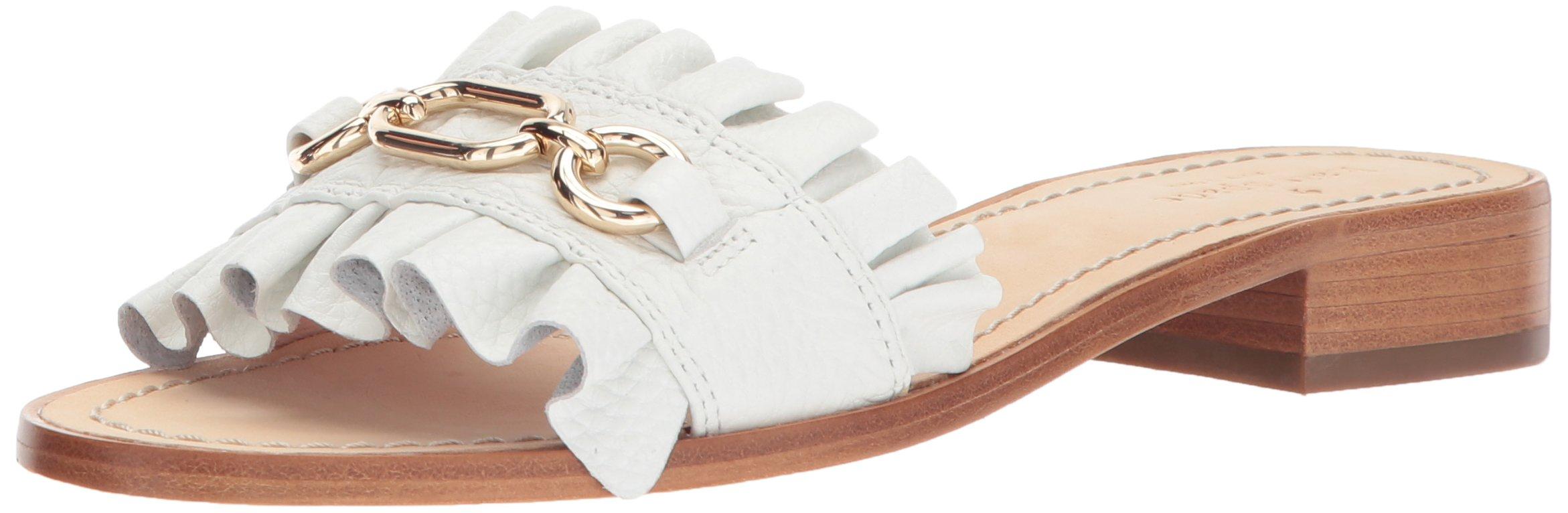 kate spade new york Women's Beau Slide Sandal, White, 8 M US