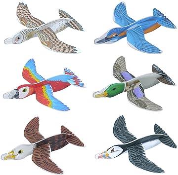 24 x poliestireno Nueva Pájaros Aviones Animales gleiter 16 cm Cumpleaños obsequios HB: Amazon.es: Juguetes y juegos