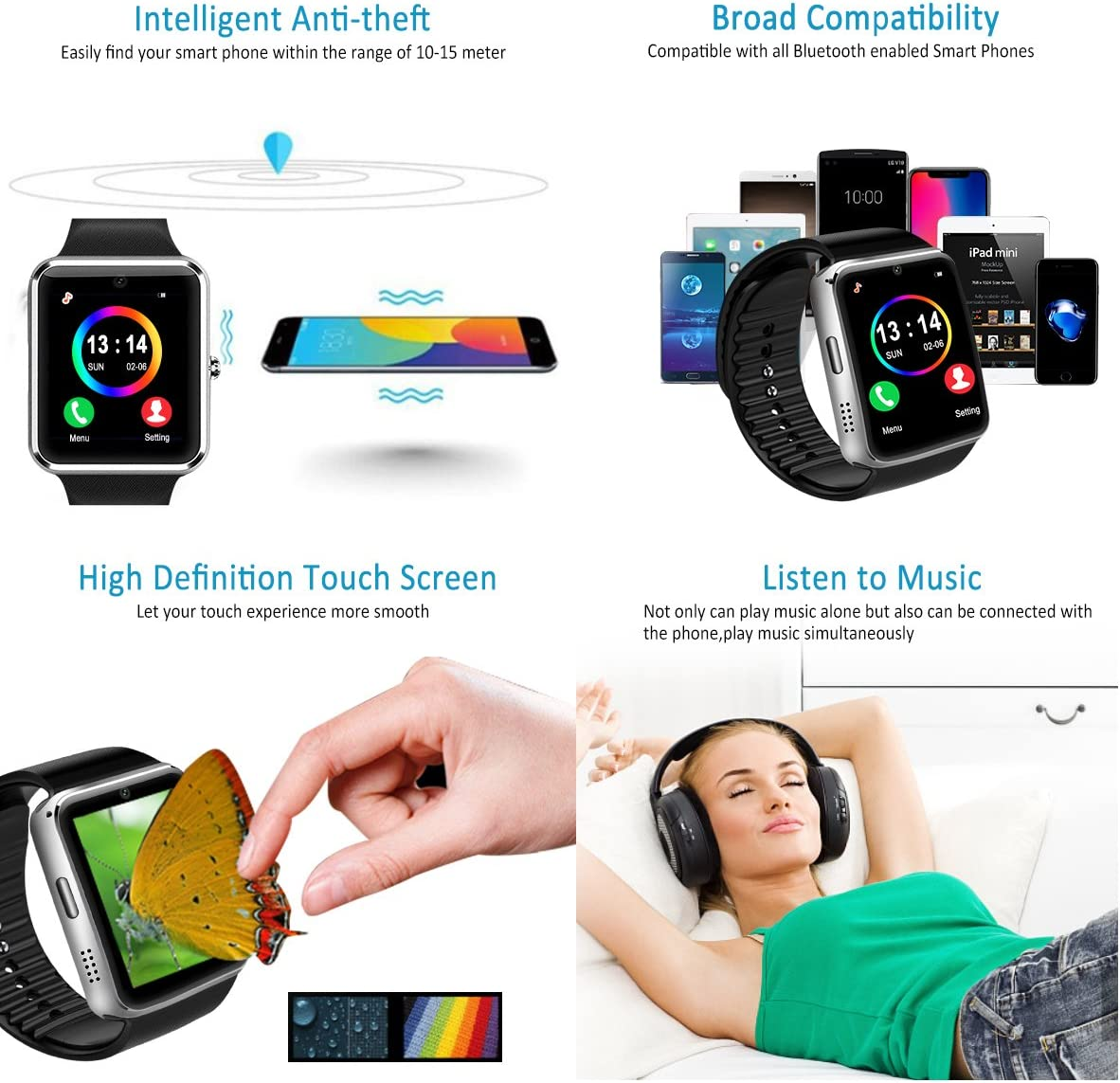 smartwatches (Plata): Amazon.es: Electrónica