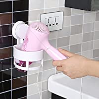 GETKO WITH DEVICE Plastic Wall Mounted Hair Dryer Holder (Multicolour)