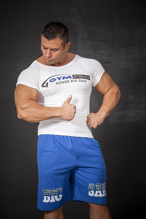 BIG SAM SPORTSWEAR COMPANY Bodybuilding Mens Capri Shorts Short Pants 1643
