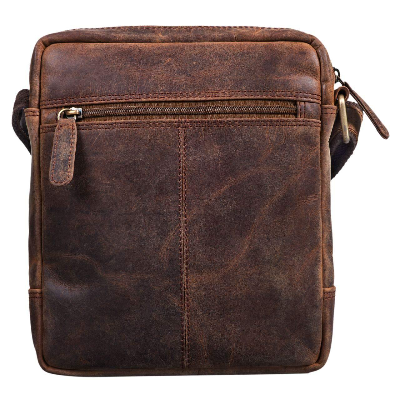 27e6d650657ad STILORD  Jamie  Herren Ledertasche Umhängetasche klein Vintage Messenger Bag  Herrenhandtasche für 9.7 Zoll iPad größeres Bild