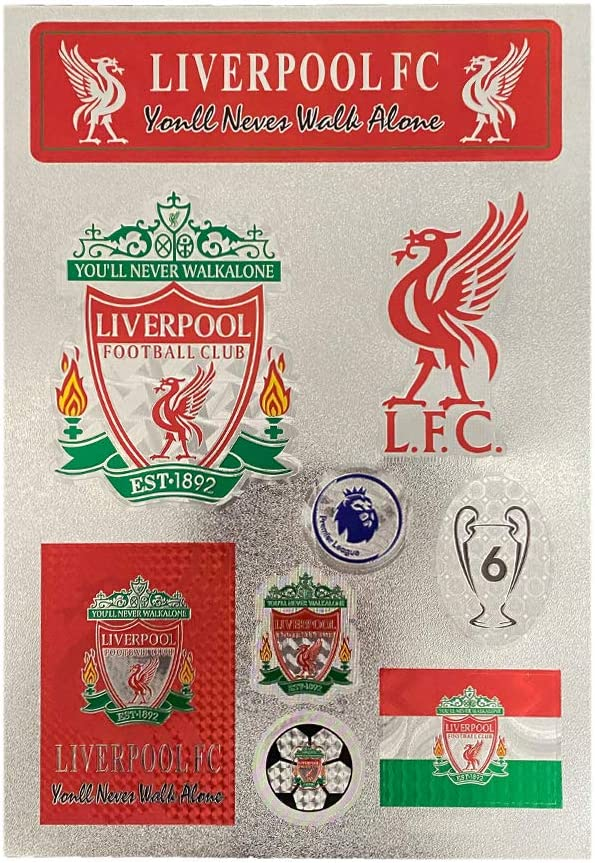 Football Club Soccer Team Logo Stickers Car Glass/Wall/Laptop/Favorite Items Sticker Decal (Liverpool, 7.5-10.6 inch)