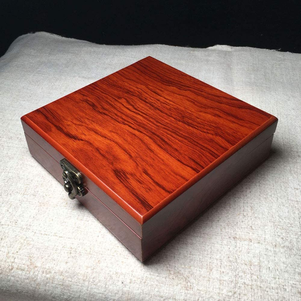 Wooden box,wooden jewelry box,wooden box with hinged lid, decorative box storage box with lid,wooden storage box,storage box with lock,suitable for gifts,beads,jade, bracelets,necklaces,small items,: Home Improvement