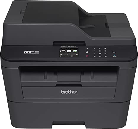 Brother Printer MFCL2740DW Wireless Monochrome Printer with Scanner, Copier & Fax (Renewed)