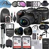 Nikon D5600 DSLR Camera 24.2MP Sensor with NIKKOR 18-55mm f/3.5-5.6G VR Len, 2 Pack SanDisk 32GB Memory Card, Backpack, Tripo
