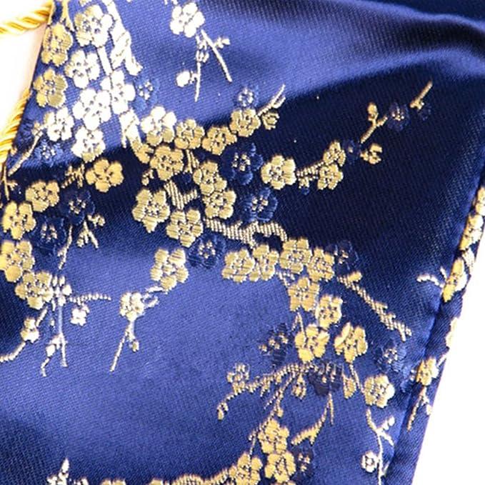 135cm Plum Blossom Blue Katana Japanese Samurai Sword Bag