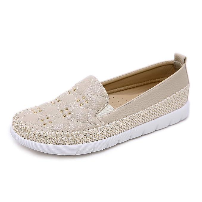 Morbuy Alpargatas para Mujer, Zapatos Planos Ocasionales Loafer Zapatos Moda Remache Cuerda de cáñamo Banda elástica 35-42: Amazon.es: Ropa y accesorios