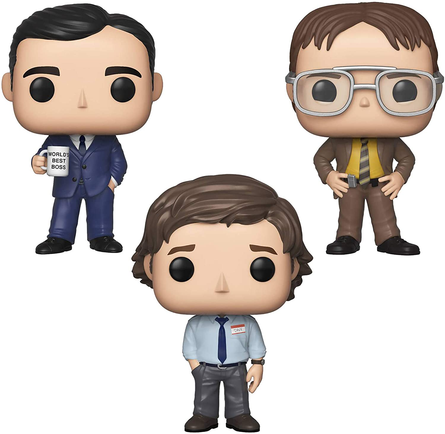 Funko TV: Pop! The Office - Michael Scott, Dwight Schrutte, Jim Halpert