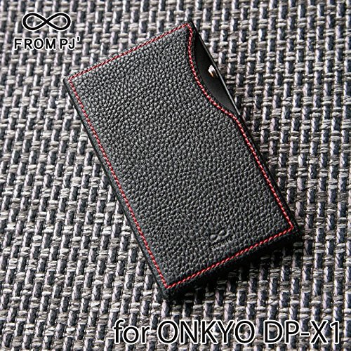 [Limited Model] From PJ Black Red Stitch Italian Leather Case for ONKYO DP-X1 9PJDPX1-BKR from Japan by From PJ