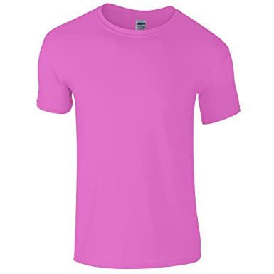 3bffcfbf Gildan Mens Short Sleeve Soft-Style T-Shirt (S) (Azalea)