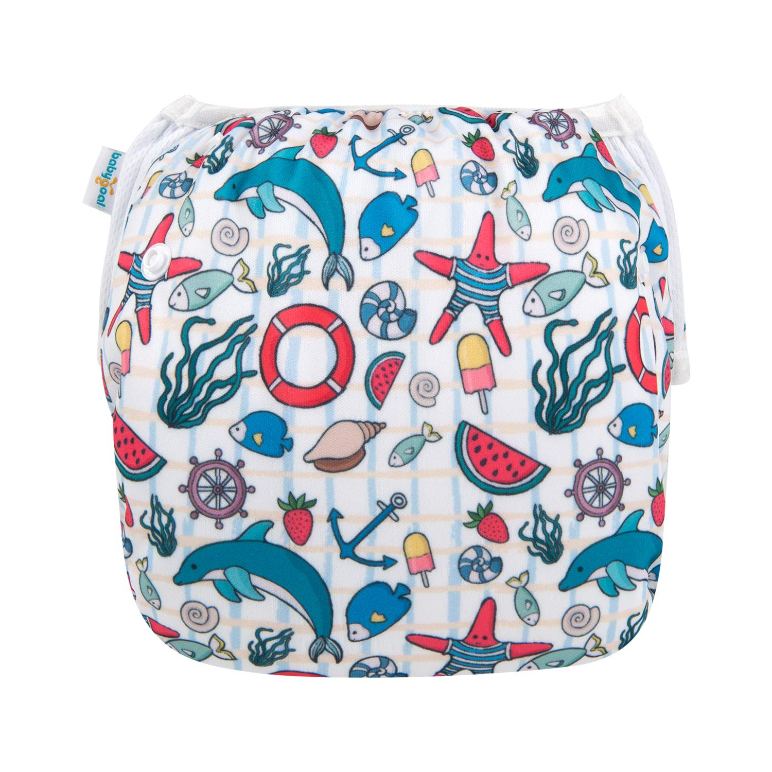 Outdoor Activities and Daily Use Reuseable Washable and Adjustable for Swimming Fit Babies 0-2 Years SW-B25-CA Blue babygoal Baby Swim Diapers