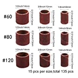 Coceca 148pcs Sanding Drums for Drum Sander,Kit