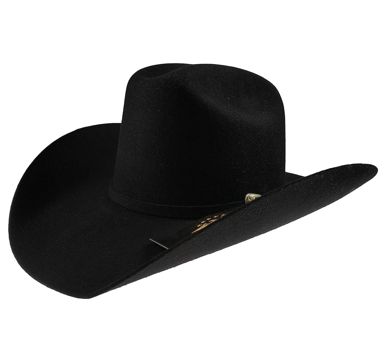 El General Mens Western Cowboy Hat Texana 50X Horma Boro Color Black Wool