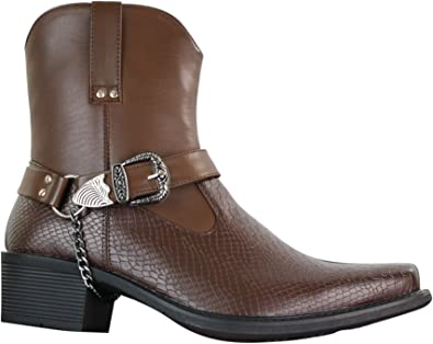 Classique Mens Cowboy Riding Ankle Slip
