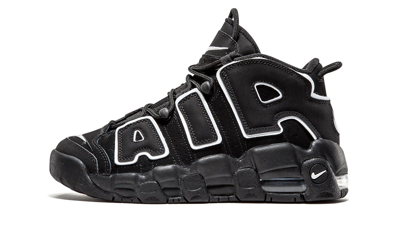 Nike Air More Uptempo Black White GS - 415082-002 -  7|Black, White-black