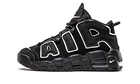 a257296c8fc NIKE AIR MORE UPTEMPO BLACK WHITE GS - 415082-002 - SIZE 6.5  Amazon.co.uk   Shoes   Bags